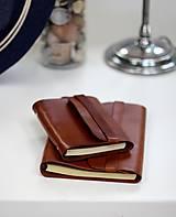 Papiernictvo - Pánsky kožený zápisník / karisblok BROWN A5 (hnedý) - 7065523_