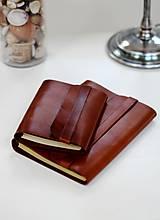 Papiernictvo - Pánsky kožený zápisník / karisblok BROWN A5 (hnedý) - 7065830_