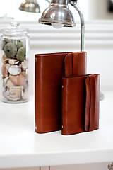 Papiernictvo - Pánsky kožený zápisník / karisblok BROWN A5 (hnedý) - 7065862_