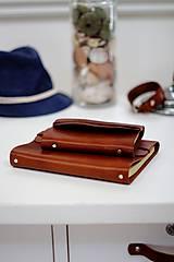 Pánsky kožený zápisník / karisblok BROWN A6