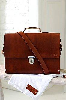Veľké tašky - Pánska aktovka / crossbody BROWN - 7065157_