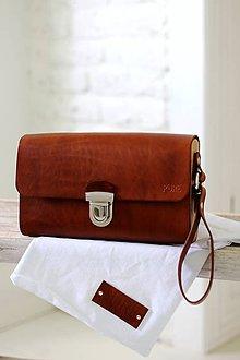 Iné tašky - Pánska taška na zápästie BROWN - 7065406_