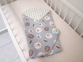 Textil - Chlapčenská zavinovačka so zvieratkami - 7066892_