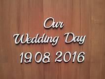 Polotovary - Our wedding day - svadobná dekorácia - 7066886_