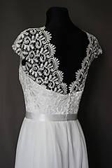Šaty - Svadobné šaty v ľudovom štýle v smotanovej farbe - 7065765_