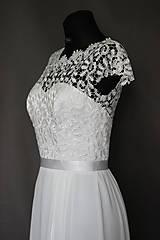 Šaty - Svadobné šaty v ľudovom štýle v smotanovej farbe - 7065766_