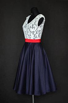 Šaty - Koktejlové šaty s kruhovou sukňou v ľudovom štýle - 7065831_