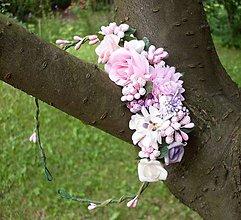 Ozdoby do vlasov - Vintage ružový venček - 7066533_