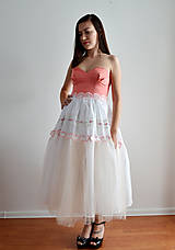 Šaty - Marhuľkové šaty so šľahačkovou sukňou - zľava - 7064385_
