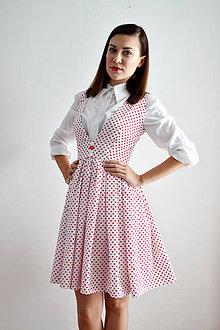 Šaty - Veľa srdiečok na jedných bielych šatách - zľava  - 7064529_