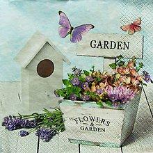 Papier - S762 - Servítky - garden, levandula, záhrada - 7069925_