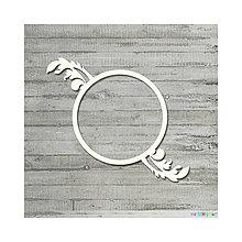 Polotovary - Lepenkový výrez - Kruhový rámik swirl, veľ. M - 7068757_