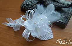 svadobné pierko biele II.