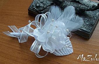Pierka - svadobné pierko biele II. - 7067512_