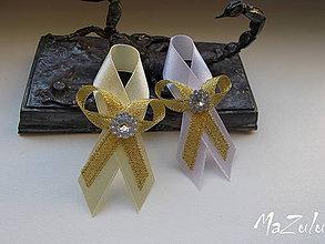 Pierka - svadobné pierko v zlatom I. - 7067748_