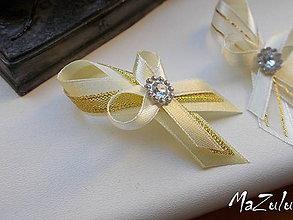 Pierka - svadobné pierko v zlatom II. - 7067781_