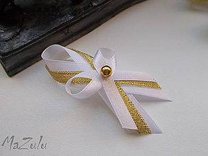 Pierka - svadobné pierko v zlatom III. - 7067808_