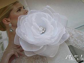 Ozdoby do vlasov - svadobná spona pre nevestu - 7068009_