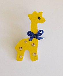 Odznaky/Brošne - Brošňa žltá žirafa Máša - 7068142_