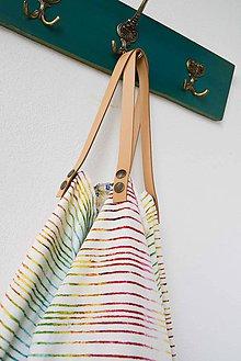 Veľké tašky - Casual... obojstranná... #22... & kožené ramienka - 7070139_