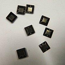Iný materiál - Našívacie  pliešky štvorcové kovové(meď-bronz)10mmx10mm - 7070056_