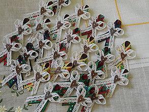 Kytice pre nevestu - Ľudové svadobné pierká - MIX farieb - 7070287_