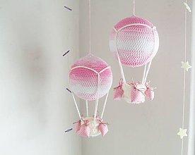 Hračky - háčkovaný balón ružový. - 7069424_