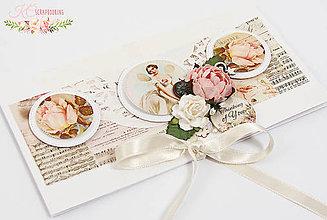 Papiernictvo - Romantická pohľadnica s vreckom SKLADOM - 7073709_
