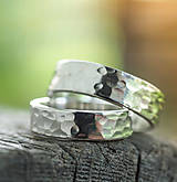 Prstene - Obrúčky srdcom tepané - 7072449_