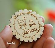Magnetky na pamiatku s dátumom narodenia a menom dieťatka