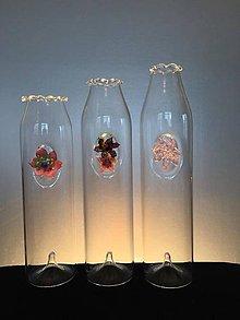 Nádoby - Váza s kvetami - cena za 1 ks - 7072612_