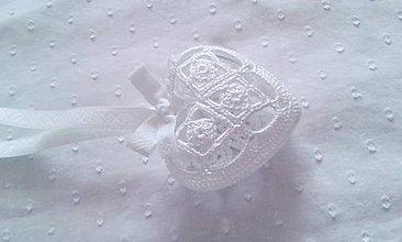 """Darčeky pre svadobčanov - srdiečko """"snehové"""" - 7072453_"""