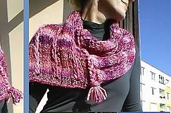 Iné oblečenie - Pink-orange náplecník - 7071456_