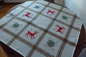 Úžitkový textil - Vyšívaný obrus vianočný - 7072670_