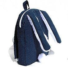 Detské tašky - RUKSAK  ZAJAČIK tmavomodrý ( rôzne veľkosti ) (RUKSAK zajko od 1,5) - 7071573_
