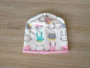 Detské čiapky - Čiapka zajačik - 7073726_