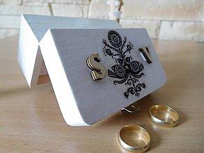 Prstene - krabička na svadobné prstienky 2 - 7071085_