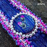 Náramky - Luxusný náramok RecyVersace pink - 7072033_