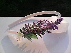 Ozdoby do vlasov - Kvetinová čelenka do vlasov \