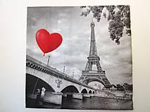 - Servítka RM3- Paríž a srdce - 7072235_