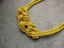 Náhrdelníky - Uzlový náhrdelník z dvoch šnúr - 7071245_