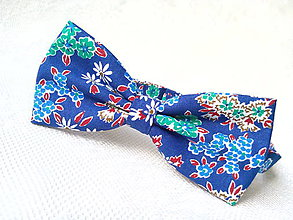 Doplnky - Vintage flowers bow tie - 7074814_