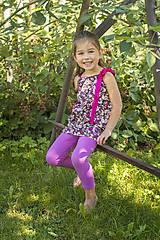 Detské oblečenie - Šaty/tunika Fialové kvietky - 7074212_
