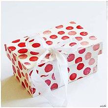 Krabičky - Krabička Červená lentilka - 7074108_