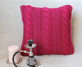 Úžitkový textil - Vankúš cyklámenový. - 7075811_