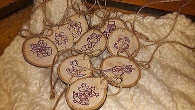 Dekorácie - vianočné ozdoby drevené peniažky - 7075829_