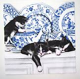 - Servítka D8- Mačičky v kuchyni - 7075311_