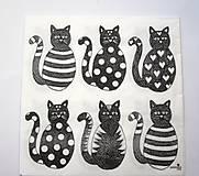- Servítka D18- Čierne mačičky - 7076079_