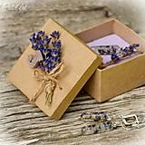 Levanduľa - sada šperkov v darčekovej krabičke
