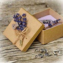 Sady šperkov - Levanduľa - sada šperkov v darčekovej krabičke - 7074855_